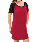 Contrast Short Sleeve Dress