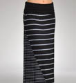 Chambray Mixed Stripe Maxi Length Skirt Image