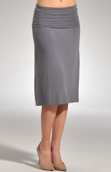Modal Lycra Fold Over Mid Length Skirt