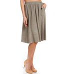 "Splendid 24"" Knee Length Rayon Skirt SS8570"