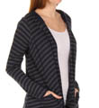 Splendid Charcoal Stripe Thermal Hooded Jacket ST26036