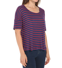Splendid New Haven Stripe Drop Shoulder Tee ST8595