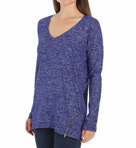 Splendid Spaced Dyed Jersey Long Sleeve V-Neck Tee ST8718