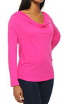 Very Light Jersey Drape Neck Long Sleeve Tee