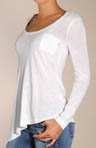 Vintage Whisper Asymmetrical Long Sleeve Tee