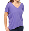 Vintage Whisper Double V-Neck Relaxed Fit Tee Image