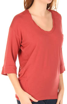 Splendid Scoop Neck Full Sleeve Tee T536945