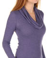 Splendid Mini Stripe Thermal Cowl Neck Top T596206