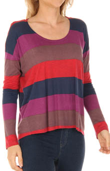 Splendid Color Block Rugby Long Sleeve Tee T787079