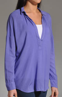 Long Sleeve Oversized Collared Shirt