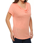 Splendid Slub Drape Neck Cap Sleeve Tee TEH7602