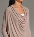 Splendid 2X1 Ribbed Drape Neck Drop Shoulder Top TKH6119