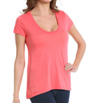 Very Light Jersey Short Sleeve Scoop Neck Tee