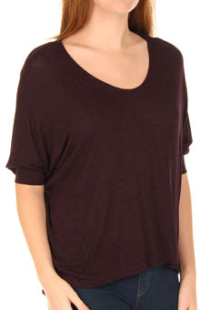 Drapey Lux Jersey Dolman Sleeve V-Neck Tee