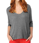 Drapey Lux Jersey Dolman Sleeve V-Neck Tee Image