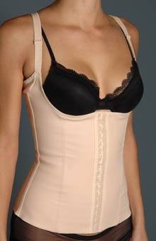 Squeem Miracle Vest High Back Torsette Waist Cincher 26J