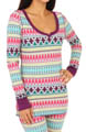 Steve Madden Cozy Up Thermals Printed Thermal Top 470656