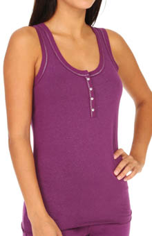Steve Madden Beneath It All Sparkle Foil Henley Tank