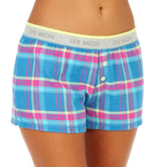 Steve Madden Mad 4 Plaid Signature Logo Boxer