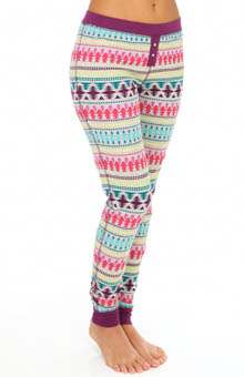 Steve Madden Cozy Up Thermals Printed Thermal Bottom