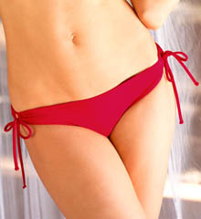 Sunsets Crimson Adjustable Tie Side Swim Bottom