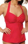 Sunsets Crimson Underwire Halter Tankini Swim Top 52CR