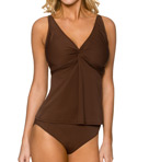 Day Break Underwire Twist Tankini Swim Top