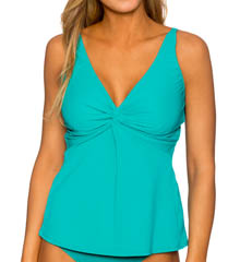 Sunsets Solid Underwire Twist Tankini Swim Top 77S