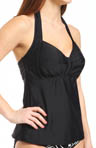 Sunsets Black Underwire Halter Tankini Swim Top BL52