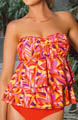 Sunsets Citrus Underwire Bandeau Tankini Swim Top CT56