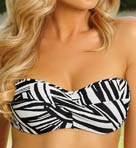 River Bend Underwire Twist Bandeau Swim Top Image