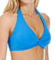 Tile Blue Halter Swim Top Image