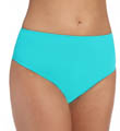 Tropical Teal High Waist Swim Bottom Image