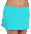 Tropical Teal Skirted Swim Bottom Image