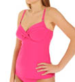 Azalea Shirred Underwire Tankini Swim Top Image
