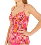 Heatwave Shirred Underwire Tankini Swim Top Image