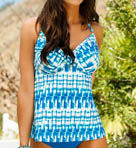 Pacific Falls Shirred Underwire Tankini Swim Top Image