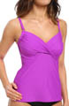 Ultraviolet Ruched Underwire Tankini Swim Top Image