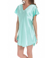 Amanda Rich Bias Cut Satin T-Shirt Gown 412-40