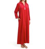 Amanda Rich Velour Zip Front Robe 607-37