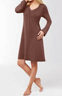 Amoena Long Sleeve Trim Night Dress 1016