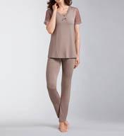 Amoena Romance Dots with Shelf Bra Pajama Set 1243