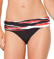 Anne Cole Zebra Dot Foldover Mid-Rise Swim Bottom 15MB356