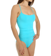 Anne Cole Solid Shirred One Piece Swimsuit 15MO057