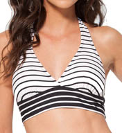 Anne Cole Simple Stripe Marilyn Banded Halter Swim Top 15MT143