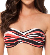 Anne Cole Zebra Dot Twist Front Bandeau Swim Top 15MT148