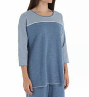 Anne Klein Chambray 3/4 Sleeve Reversible Top 8310403