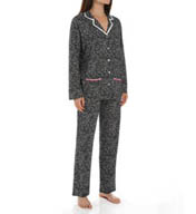 Anne Klein Snow Leopard Long Sleeve PJ Set 8310417