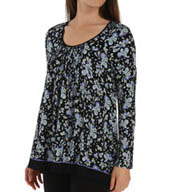 Anne Klein Bundle Up Long Sleeve Top With Soft Bra 8410419