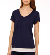 Anne Klein Playful Passages Short Sleeve Top with Soft Bra 8410430